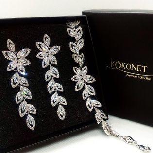 Komplet ślubny JOVIE silver KOKONET 8-0239 i 8-0253