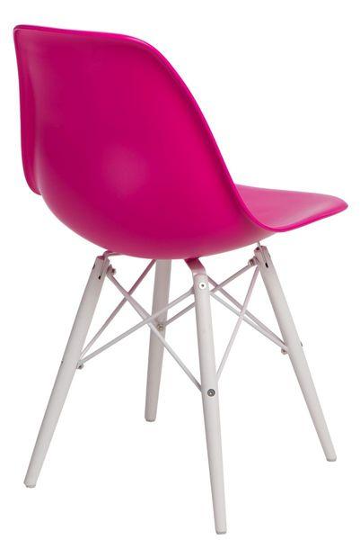 Krzesło P016W PP dark pink/white  D2 zdjęcie 3