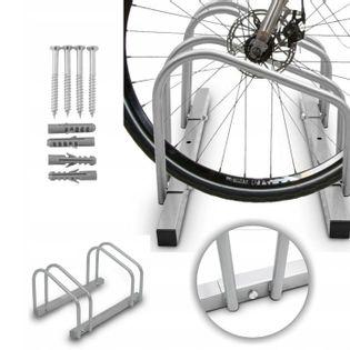 Stojaki Stojak Metalowy 2 Stanowiska na Rower  + zestaw montażowy