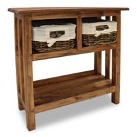 Stolik konsola, lite drewno z odzysku, 69 x 28 x 70 cm