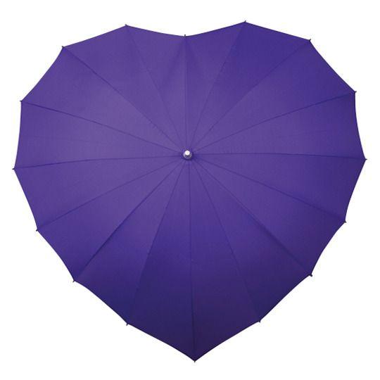 Parasolka w kształcie serca w kolorze fioletowym zdjęcie 1