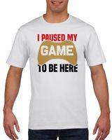 Koszulka męska I paused my game to be here XXL Biały