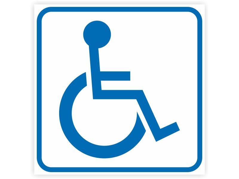 Naklejka INWALIDA znak niepełnosprawni 7x7cm zdjęcie 2