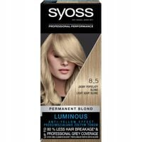 Syoss Permanent Blond Farba Do Włosów Trwale Koloryzująca 8_5 Jasny Popielaty Blond