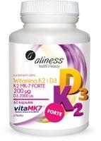 Witamina K2 FORTE MK-7 200 ug z natto + D3 2000 jm