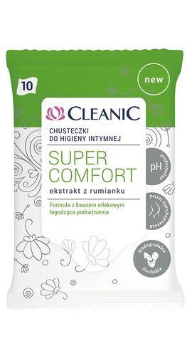 Cleanic Super Comfort Chusteczki Do Higieny Intymnej Ekstrakt Z Rumianku 10Szt. na Arena.pl