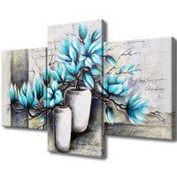 Obraz Na Płótnie 90X60 Magnolie W Niebieskich Kolo