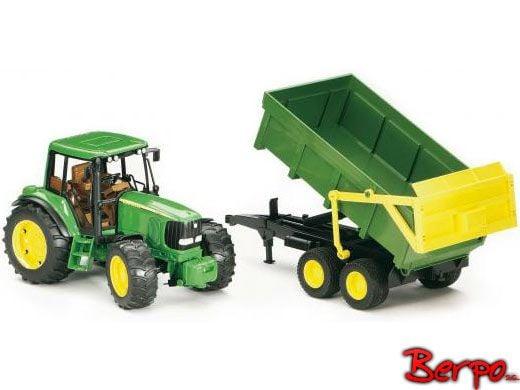 Bruder 02058 Traktor John Deere 6920 z przyczepą samorozładowczą zdjęcie 1