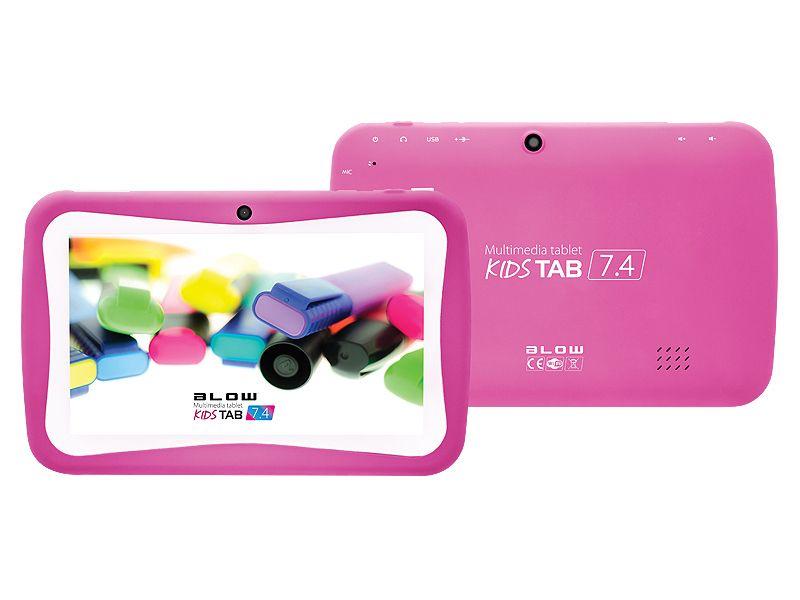 Tablet BLOW KIDSTAB 7.4 +etui +gry dla dzieci - różowy zdjęcie 1