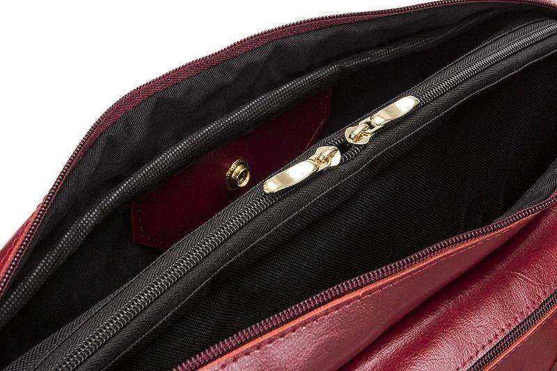 6005d391602e9 Skórzana torba damska na laptopa Marina czerwona • Arena.pl