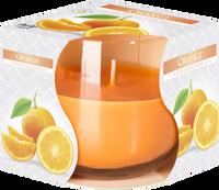 BISPOL AURA Pomarańcza 1szt - świeca zapachowa