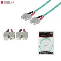 Światłowód krosowy Techlypro SC-SC duplex 50/125 OM3, MM 3m ILWL D5-B-030/OM3