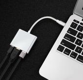 Przejściówka Adapter 3w1 HUB USB C HDMI 4K MacBook Air Pro 13/15/16 zdjęcie 10