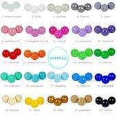 Kolorowe piłki piłeczki kulki do suchego basenu 24 kolory 50 sztuk