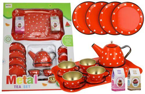 Mtalowy serwis dla dzieci do herbaty 16 elementów X07 na Arena.pl