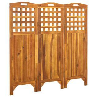 Parawan 3-panelowy 121x2x120cm lite drewno akacjowe VidaXL