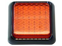 mocna Lampa 36 LED czerwona 2 włókna stop+pozycja 12v 24v