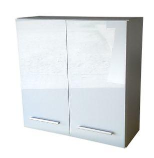 Wisząca szafka łazienkowa 80 cm biały połysk