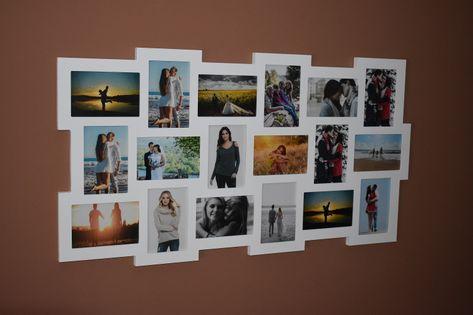 Multirama drewniana ramka na 18 zdjęć 10x15cm