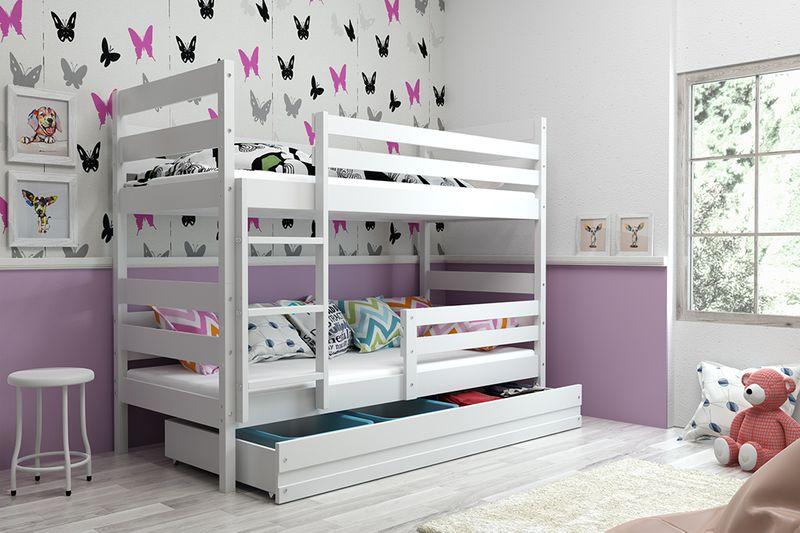 Łóżko piętrowe Eryk 200x90 dla dzieci drewniane meble dziecięce zdjęcie 6