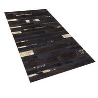 Dywan skórzany 80 x 150 cm brązowy ARTVIN