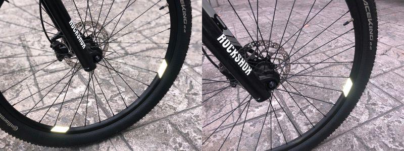 Wheel Flash Odblaskowe Naklejki Na Koła 8Szt zdjęcie 4