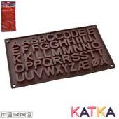 Forma silikonowa na czekoladowe LITERKI CZEKOLADKI