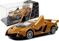 Auto Sportowe Z Naciągiem I Dźwiękiem Złote