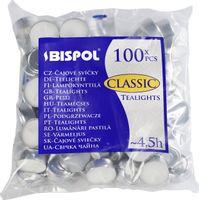 Podgrzewacze bezzapachowe tealight BISPOL 4.5H CLASSIC 100szt.