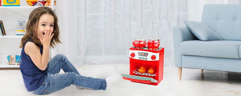 Kuchenka dla dzieci Piekarnik LED Garnki Kurczak Ruszt Kuchnia U29 zdjęcie 2