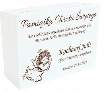 Pudełko Wspomnień Prezent Chrzest Roczek Urodziny