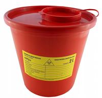 Pojemnik na odpady medyczne i materiał skażony 2 litry
