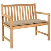 Poduszka na ławkę ogrodową, beżowa, 100 x 50 x 3 cm