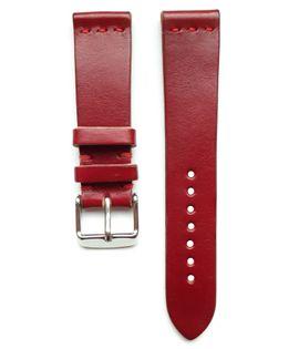 Pasek do zegarka 20mm skóra czerwony - polskie - Lamato