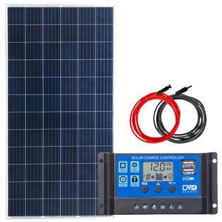 Zestaw solarny 100W POLI 12V PWM 2xUSB