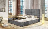 Łóżko tapicerowane z pojemnikiem na pościel 140X200 Korfu zdjęcie 3
