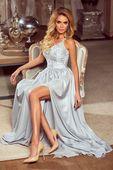 Sukienka Bella koronkowa - szary M (38)