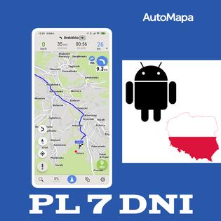 AutoMapa Polski licencja na tydzień (7 dni) Android