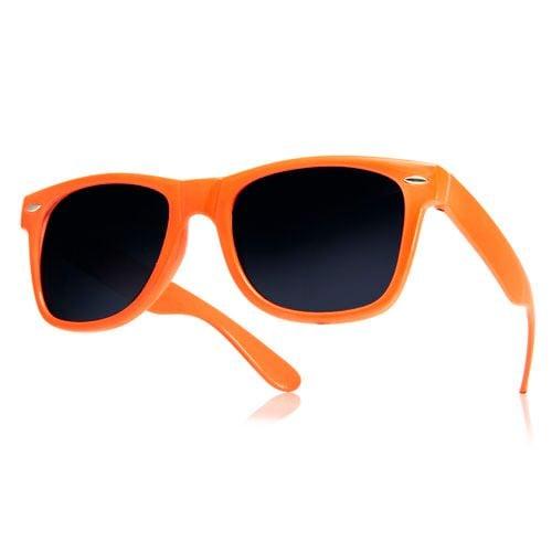 Okulary przeciwsłoneczne WAYFARER nerdy kujonki # POMARAŃCZOWE na Arena.pl
