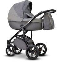 Szary nowoczesny wózek dziecięcy MODO NEXT Wiejar w zestawie 3w1