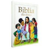 BIBLIA DLA DZIECI A4 z grawerem PAMIĄTKA CHRZTU KOMUNII