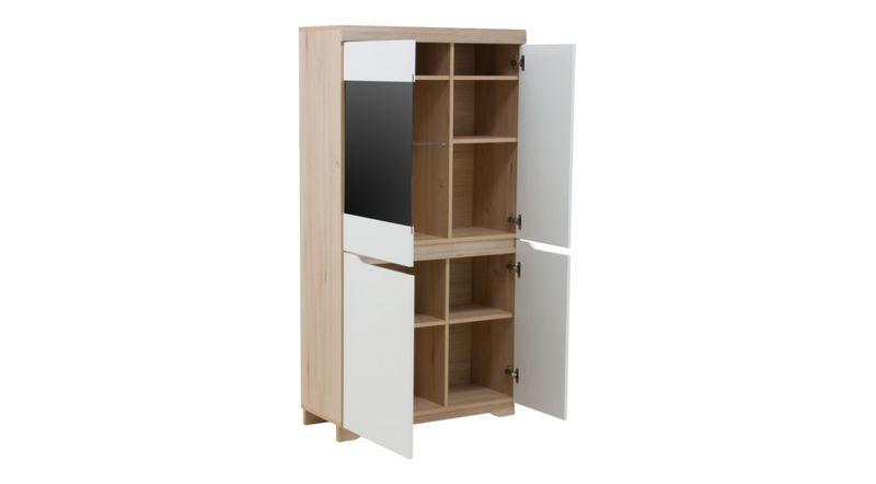 Zestaw stół i cztery krzesła do jadalni komoda witryny meble pokojowe zdjęcie 6