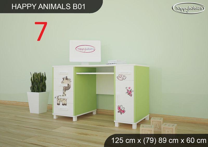 BIURKO DZIECIĘCE  HAPPY ANIMALS B01 AM01 Zielone zdjęcie 9