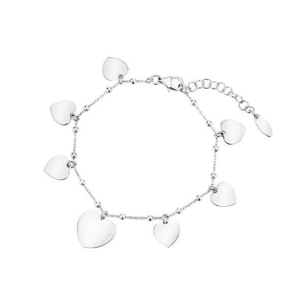 bransoletka łańcuszkowa z serduszkami srebro 925 zdjęcie 1