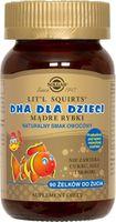 Dha dla dzieci Mądre rybki naturalny smak owocowy 90 żelków do żucia Solgar