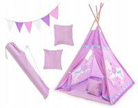 Namiot Tipi dla Dzieci Fioletowy Domek