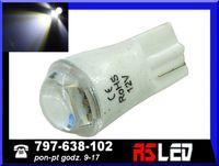 żarówka LED T10 SMD soczewka w5w w3w biała zimna 12v wysoka jakość