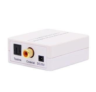Konwerter optyczny dźwięku Coaxial / TOSLINK - 2 x RCA chinch / jack 3,5 mm