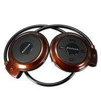 BRĄZOWE słuchawki sportowe do biegania Bluetooth Radio Karta Pamięci