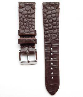 Pasek do zegarka 20mm skóra czekoladowo brązowa - polskie - Lamato